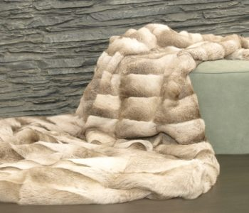 Palomino Pyrenean Rabbit Fur Throw