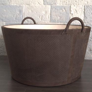 Woven Nubuck Bedding Basket