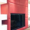 Red Leather Wall Panel