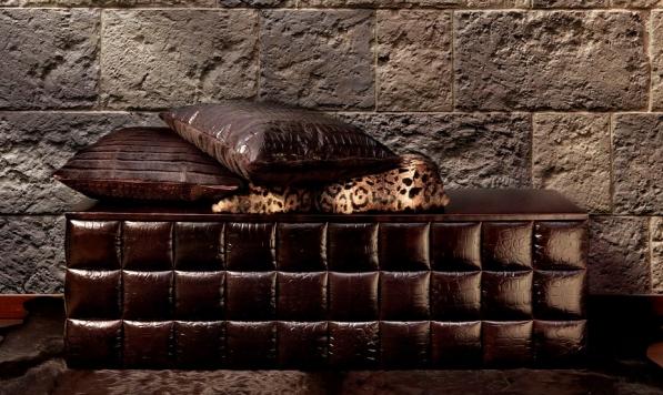 Leather Tiled Blanket Chest