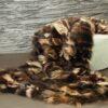 Piezini Brown Fox Fur Blanket