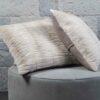 Mink Fur Palomino Carved Mink Cushion