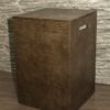 Square Leather Laundry Bin