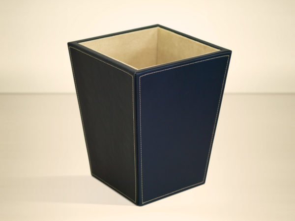 Leather Waste Paper Basket