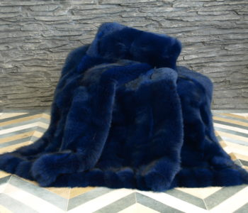 Dyed Fox Fur Blanket