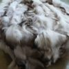 Skandinavian Blue Textured Fox Fur Blanket