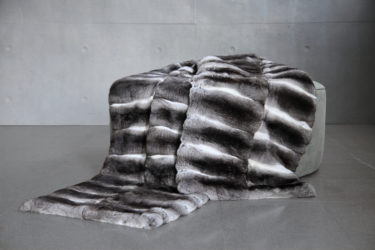 Custom made Chinchilla Fur Bed Runner