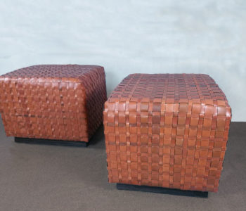 Baby Belvoir Woven Leather Pouffes