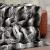 Chinchilla Fur Throw