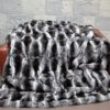 STUNNING CHINCHILLA throw