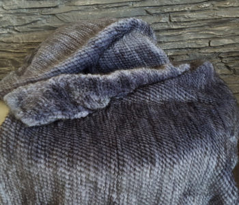 Knitted mink fur