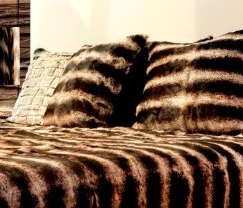 Chinchilla fur cushion
