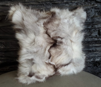 Silver fox fur pillow