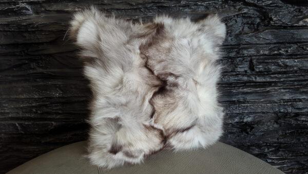 Silver fox fur pillow
