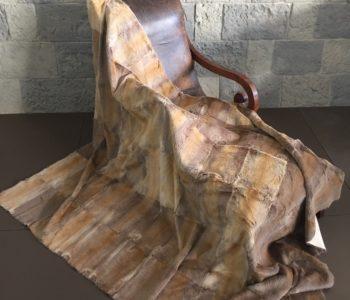 Amber Lilac Tone Rabbit Fur Blanket