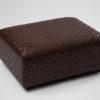 Nina leather ottoman