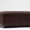 Nina woven leather stool