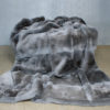 Natural Persian Grey Imperial Chinchilla Rex Fur Blanket
