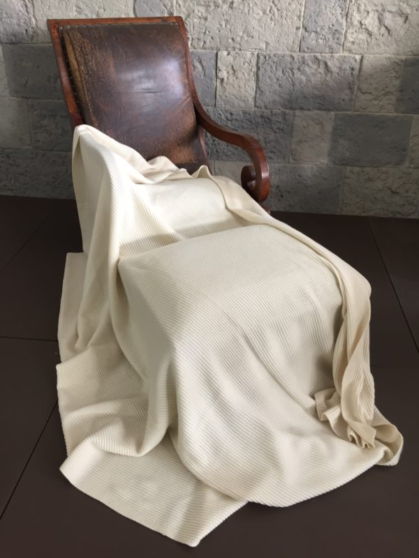 Ribbed Knitted Cashmere Blanket