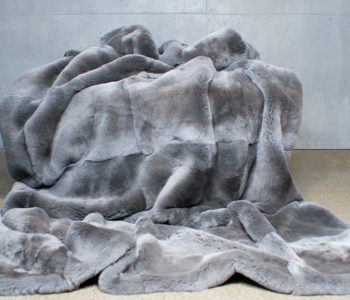 Stunning Persian Grey Fur Throw