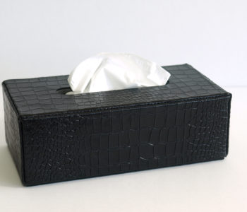 Rectangular Leather Tissue Box