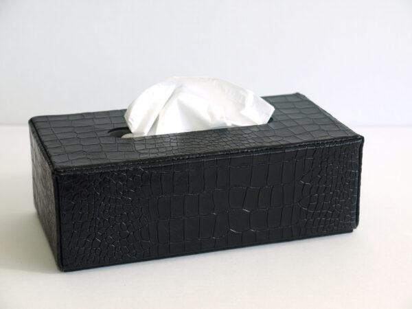 Rectangular Leather Tissue Box