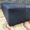 leather ottoman in soft Italian upholstery leather, custom made to color design and size